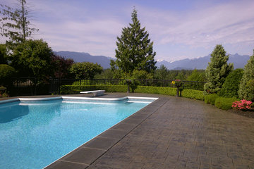 Concrete Only Restoration Services in Coquitlam: Pool deck cleaning and sealing