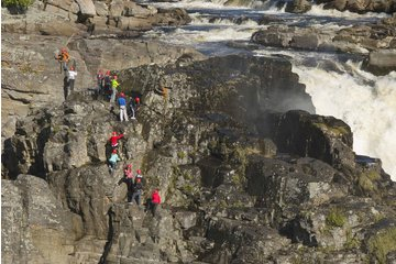 Canyon Ste-Anne à Beaupré: Via-ferrata Canyon