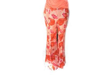 Verve Fashion Inc in Victoria: Blumarine Printed Silk Chiffon Floral Pants