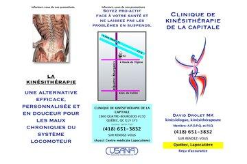 Clinique De Kinesitherapie De La Capitale in Québec: dépliant-p1