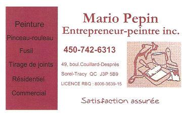 Entrepreneur-peintre inc Mario Pepin