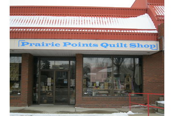 Prairie Points Quilt Shop in Ponoka: Store front of Prairie Points Quilt Shop at 5101-51 Ave in Ponoka, AB