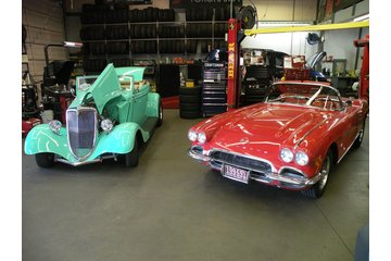 Integra Tire & Auto Centre in North Vancouver: 1934 Ford and a 1962 Corvette