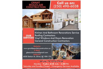 Roofing Contractors in Oliver | Grant Beauclair Construction