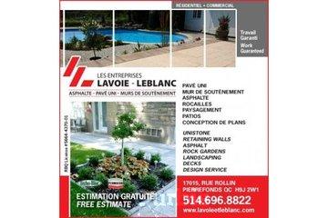 Les Entreprises Lavoie et Leblanc à Pierrefonds