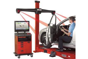 CliniqueAuto MM Inc à Quebec: image  Alignement des roues dans un garage mécanique automobile à Québec