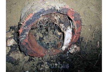 Construction Chronos à LeMoyne: Racines dans égout (image inspection à la caméra)