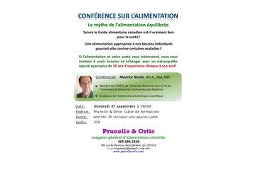 Prunelle & Ortie in Saint-Jérôme: conférence sur l'alimentation