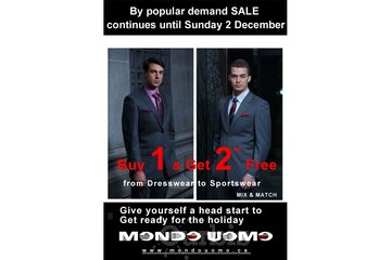 Mondo Uomo à Laval: new promotion