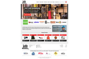 Outrageous Creations à Newmarket: Website developed for Jubb Utility Supply Limited in Aurora, Ontario