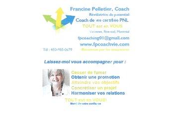 Francine Pelletier, Coach professionnelle certifiée PNL