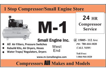 M-1 Small Engine Inc in Edmonton: Air Compressors & Small Engine Services