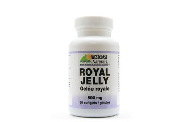 Westcoast Naturals in Richmond: Royal Jelly 500 mg 50 sftg