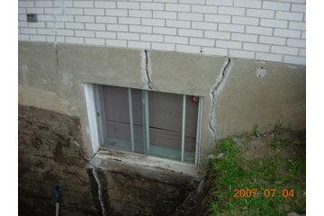 Fissure Monsieur in Québec: fissure vue extérieur coin fenêtre