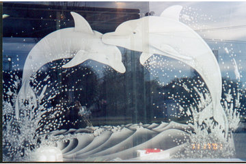 Angel Etchings in Langley: Home Decor Entrance window