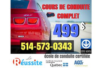 Ecole de Conduite La Reussite à Montreal: Ecole de Conduite La Reussite Offre