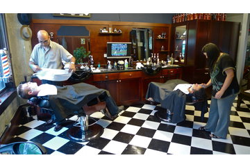 Farzad's Barber Shop in Vancouver: Farzad and Noriko:  Wedding Shaves
