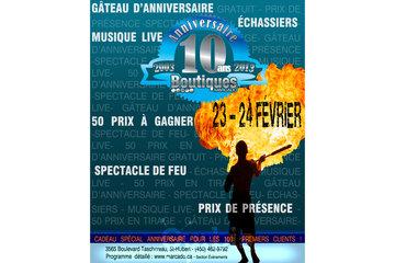 Boutiques Marcado 5 Etoiles Inc in Saint-Hubert: Les 10 ans du Marcado