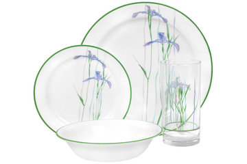 Home World in Calgary: Shadow Iris - 16 pc Dinner Set