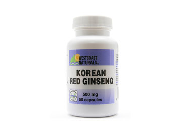 Westcoast Naturals in Richmond: Korean Red Ginseng 500 mg 50 caps