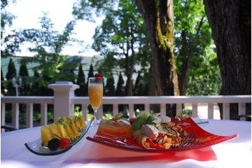Auberge La Muse in Baie-Saint-Paul: Déjeuner sur la terrasse