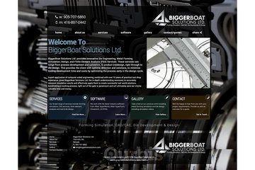 Outrageous Creations à Newmarket: Website developed for BiggerBoat Solutions Ltd. in Thornhill, Ontario