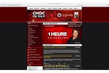 Groupe Rouge Agence Web à Montréal: CHOC FM