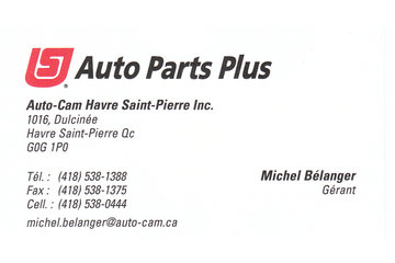 Auto Parts Plus - Auto-Cam Havre Saint-Pierre Inc.