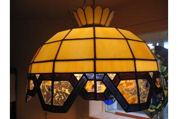 vitrail art & passion à Saint-Urbain-Premier: lampe à panneaux