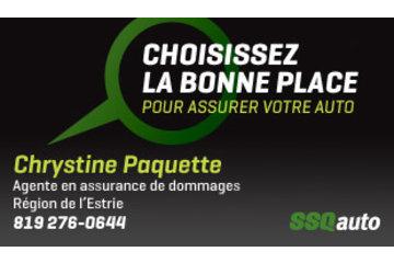 Chrystine Paquette, agente en assurance de dommages affiliée à SSQauto, société d'assurances générales inc.