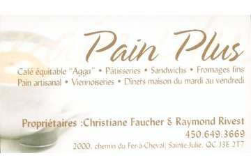 Pain Plus à Sainte-Julie: La carte d'affaire