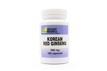 Westcoast Naturals in Richmond: Korean Red Ginseng 500 mg 100 caps