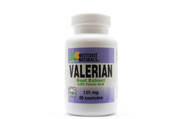 Westcoast Naturals in Richmond: Valerian Root Extract 125 mg 50 caps