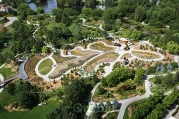 Parc Marie-Victorin à Kingsey Falls: Une vue aérienne du nouveau Parcours du géant