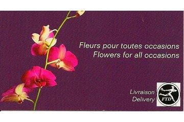 Madame Lafleur in Montréal: business card/back