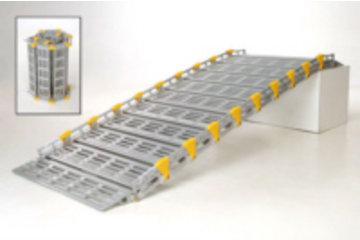 Portable Wheelchair Ramps à Montréal: Portable ramps that roll up, made of aluminium which makes it light weight and portable.