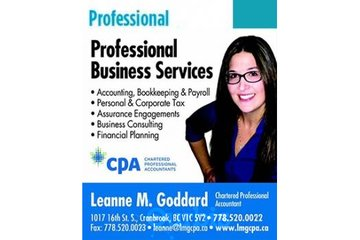 Leanne M. Goddard, Chartered Professional Accountant in Cranbrook: 1