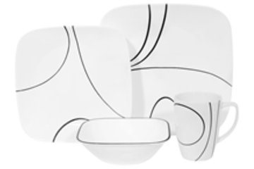 Home World in Calgary: 16 pc Dinner Set Simple Lines