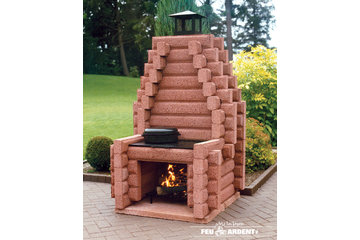 Les Foyers Feu Ardent Inc in Saint-Nicolas: outdoor fireplace #125