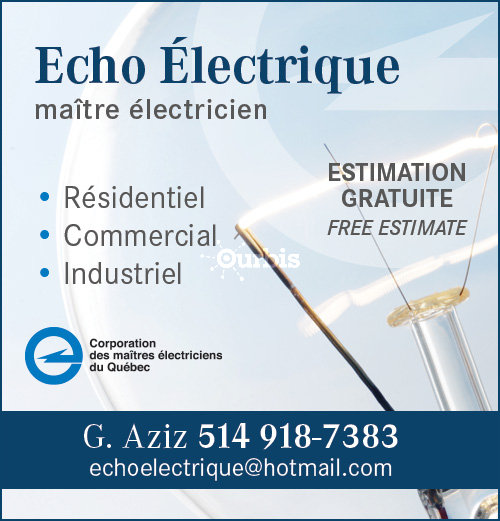 Echo electrique pincourt qc ourbis - Verification des installations electriques ...