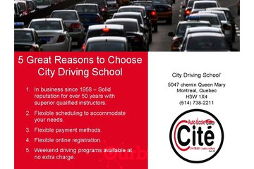 City Driving School à Montréal: Driving School Montreal | Teaching safe driving techniques since 1958