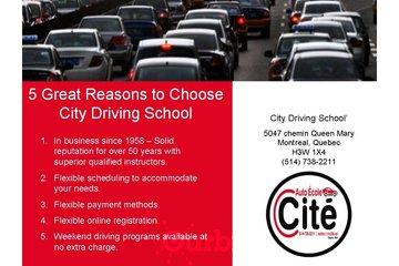 City Driving School à Montréal: Driving School Montreal | Teaching safe driving techniques since 1958