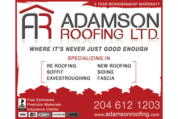 Adamson Roofing LTD in Winnipeg