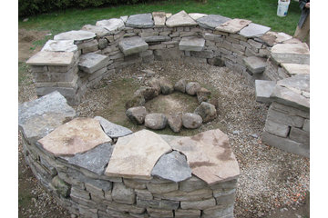 Forestell Designed Landscapes in Ottawa: Dry Stack Stone Fire Pit