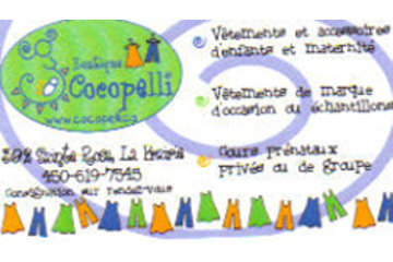 Boutique Cocopelli in La Prairie: Carte d'affaires