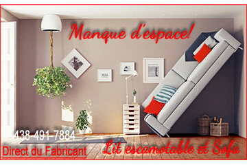 Lit escamotable et sofa