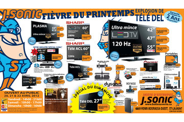 J Sonic Services Inc à Saint-Laurent: April Spring Fever Sale 20-21-22 Fr.