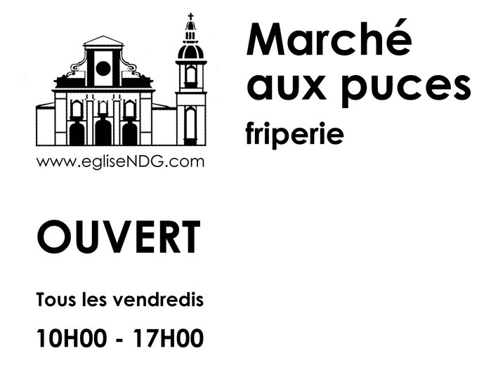 March aux puces eglise ndg montr al qc ourbis for Meubles montreal decarie