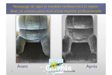 Solonet à Saint-Jean-sur-Richelieu: nettoyage de causeuse