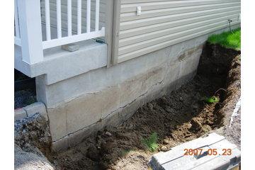 Fissure Monsieur in Québec: fissure équerre de balcon causée par gel